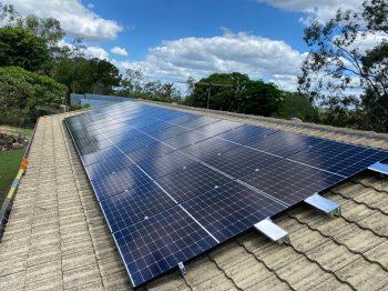 Bird mesh solar panels